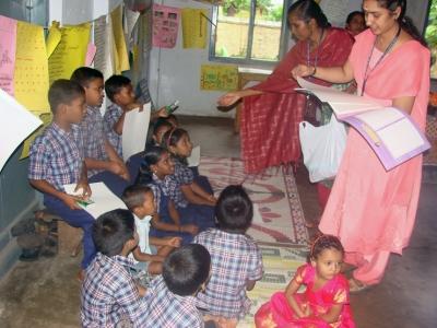 distributing teaching aids