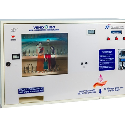 Mask and Sanitizer vending machine with Infra Red (IR) Scanner